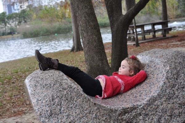 Relaxing at Hermann Park