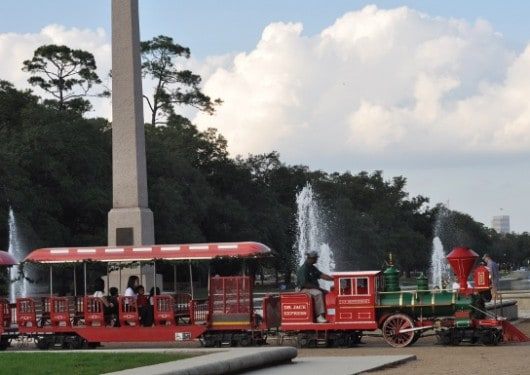 Train and Water at Hermann Park