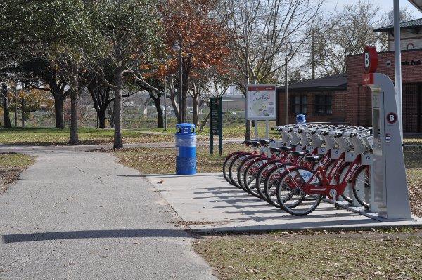 B Bikes at Stude Park Houston Heights