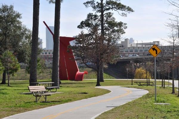Bike Path at Sude Park Houston Heights