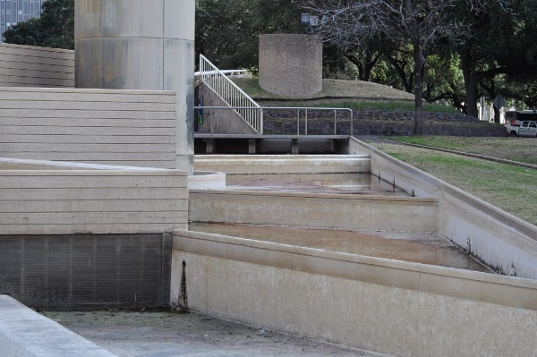 Dry Fountains at Tranquility Park Houston