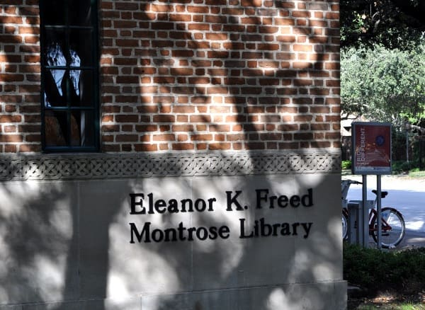 Freed Montrose Library Sign