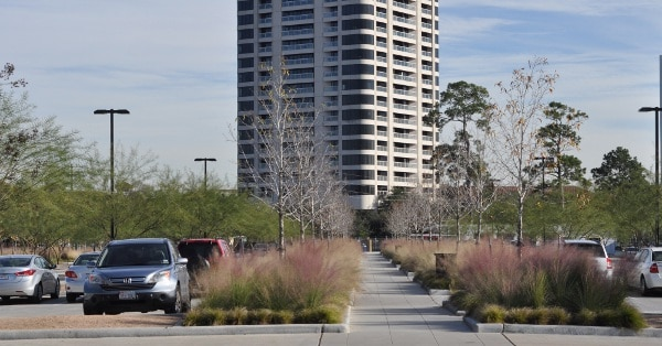 Hermann Park Centennial Garden Parking Lot