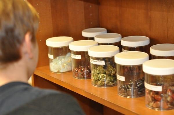 Houston Zoo Swap Shop Bottles of Stones for Trade