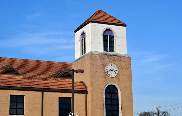 Looscan Houston Public Library Clocktower