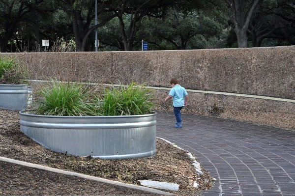 Planters at Tranquility Park Houston