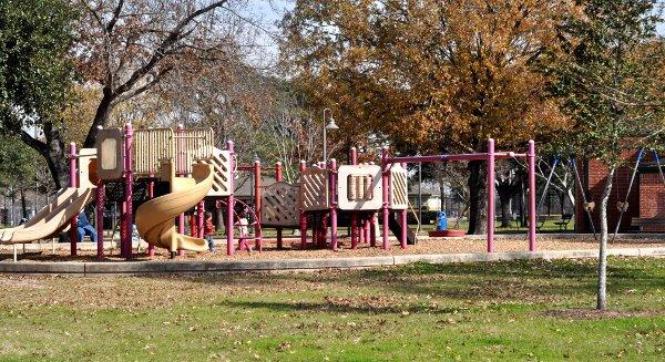 Playground at Stude Park Houston Heights