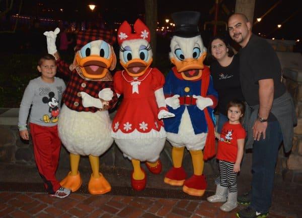 Amanda Hydock Family with Scrooge at Disney World