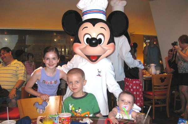 Eating with Mickey at Walt Disney World