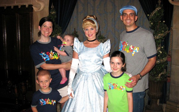 Emily Family with Cinderella at Disney World
