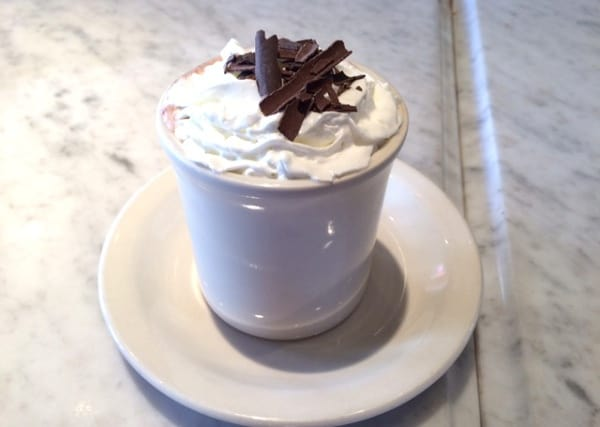 Hot Chocolate at Croissant Brioche