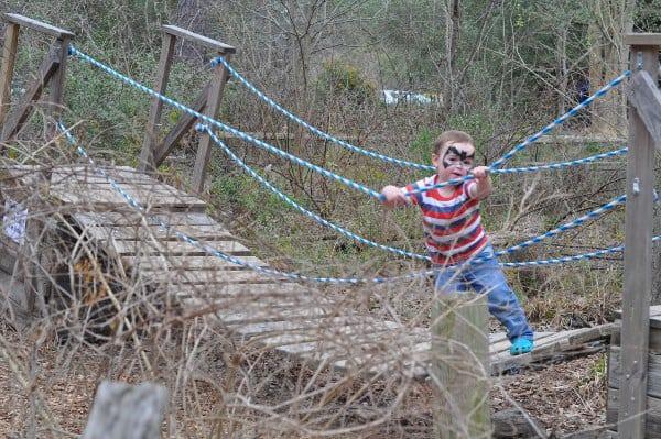 Houston Arboretum Playground Bridge James