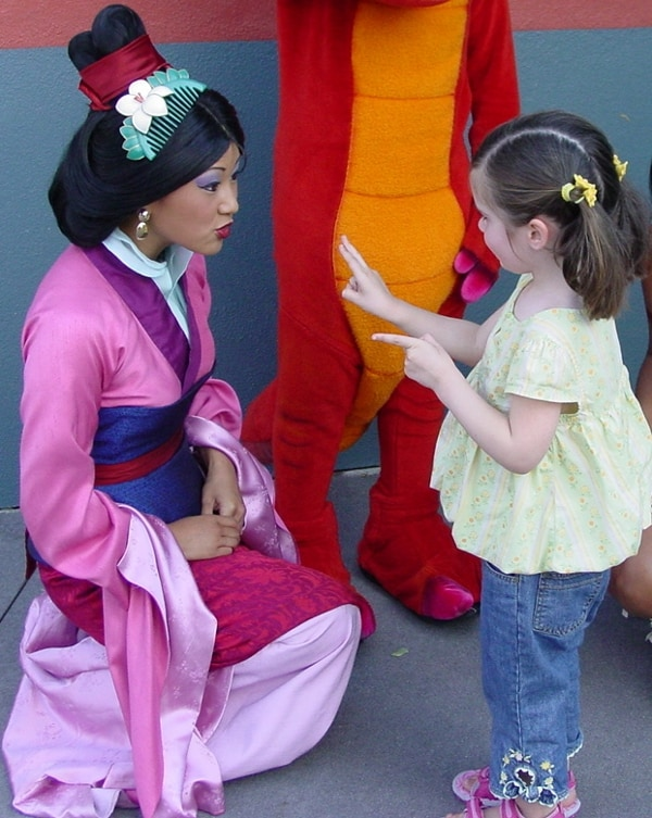 Meeting Mulan Walt Disney World