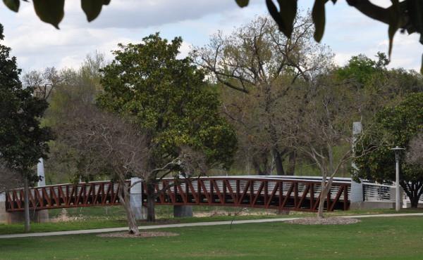 Bridge over Bayou at Houston Police Memorial