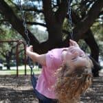 Brooke on the Swings at Ervan Chew
