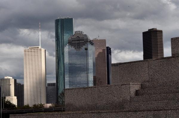 Downtown Houston Skyline from Houston Police Officer Memorial