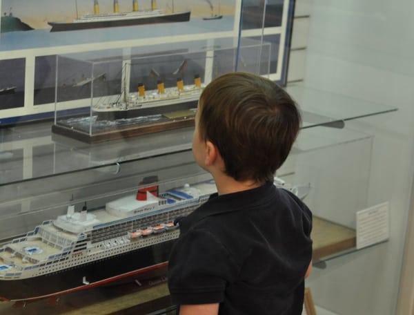 James Looking at Ships at Maritime Museum