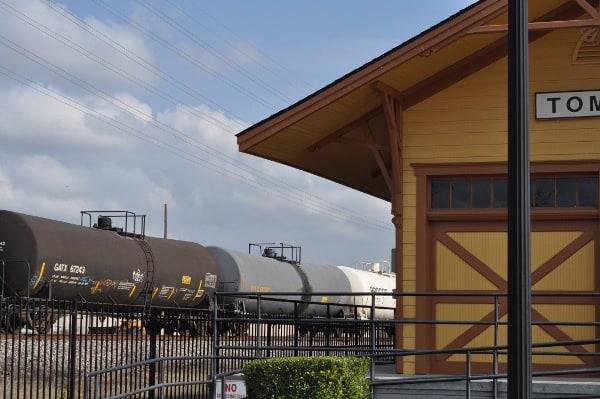 Real Train at Tomball Train Depot