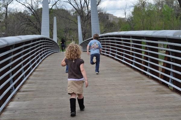 Running Across Bridge at Houston Police Officer Memorial