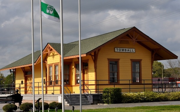 Tomball Train Depot by Caboose