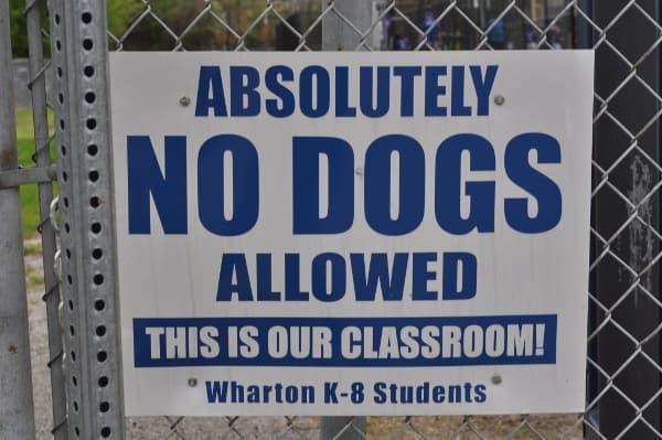 Wharton Spark Park No Dogs
