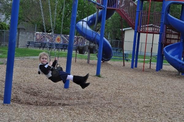 Wharton Spark Park Swings