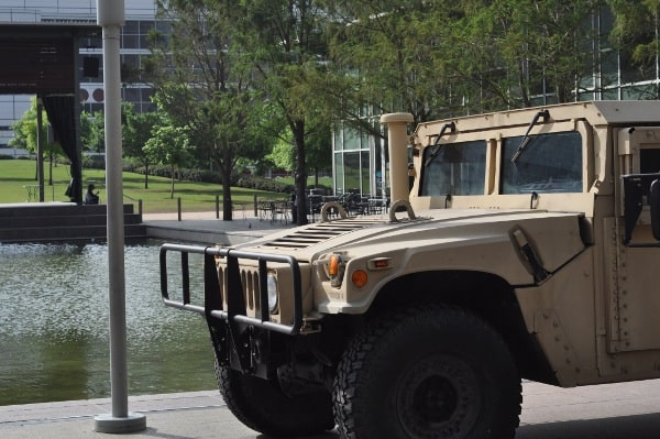 Army Truck at Discovery Green Toddler Tuesday