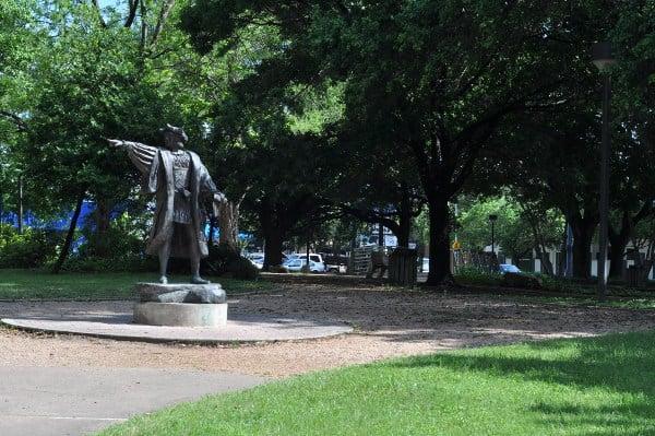 Bell Park in Houston Christopher Columbus