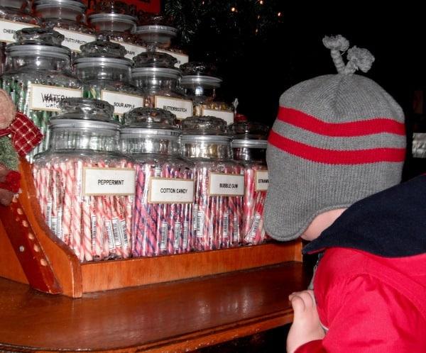 Candy Sticks at Spaghetti Warehouse Houston