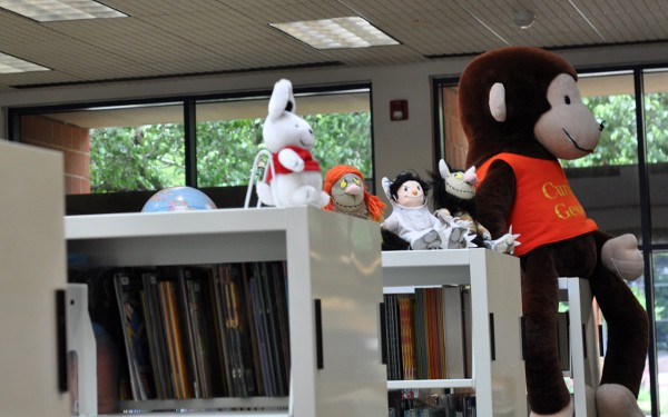 Curious George at Robinson Westchase Houston Public Library