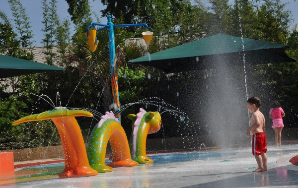 Houston Zoo Splash Pad Dragon and Bucket