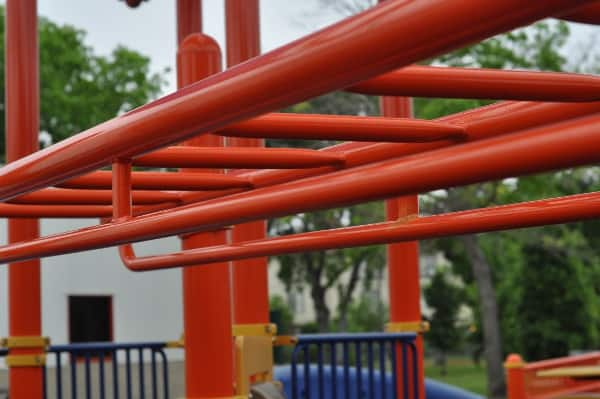 Monkey Bars at The Playground Without Limits at the Metropolitan Multi-Service Center West Gray