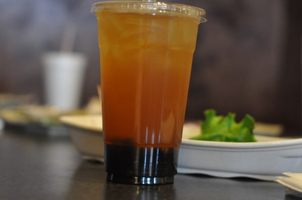 Peach Tapioca Tea at Ichiban Sugar Land