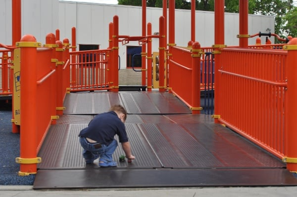 Ramps on Playground at The Playground Without Limits at the Metropolitan Multi-Service Center West Gray