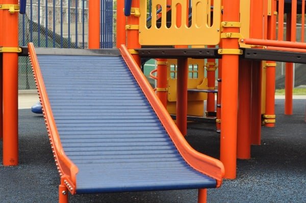 Roller Slide at The Playground Without Limits at the Metropolitan Multi-Service Center West Gray