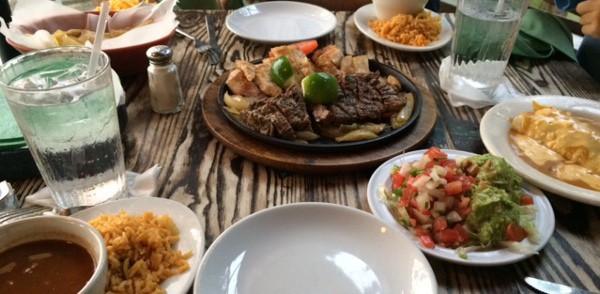 Tealas Table Full of Food