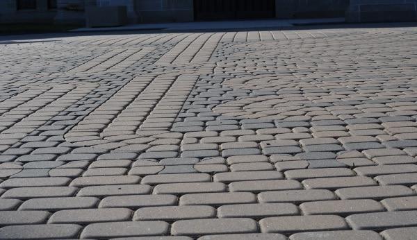 Bricks of Labyrinth at St Pauls Methodist Church