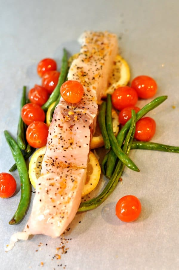 Fish and Veggies in Parchment Paper