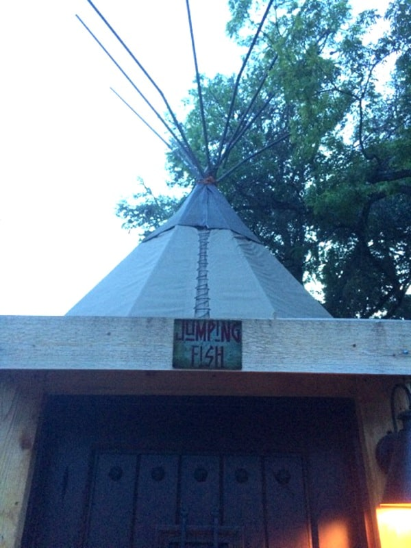 Jumping Fish Tipi at Geronimo Creek Retreat