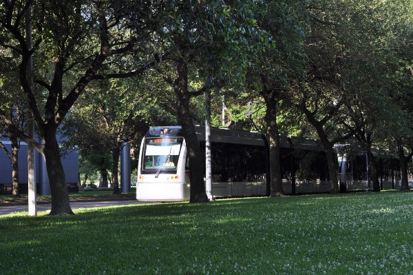 METRORail by Hermann Park and Museum District