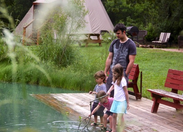 Playing at Creek at Geronimo Creek Retreat