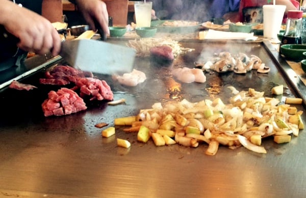 Tokyohana Cooking on Grill