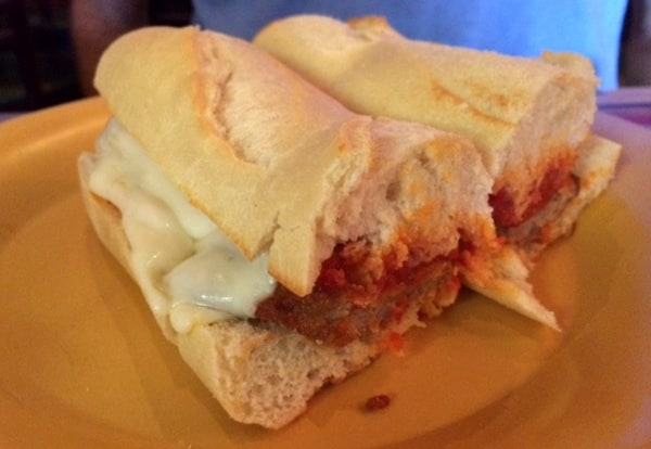 Chicken Parm Sandwich at Romanos Pizza Houston