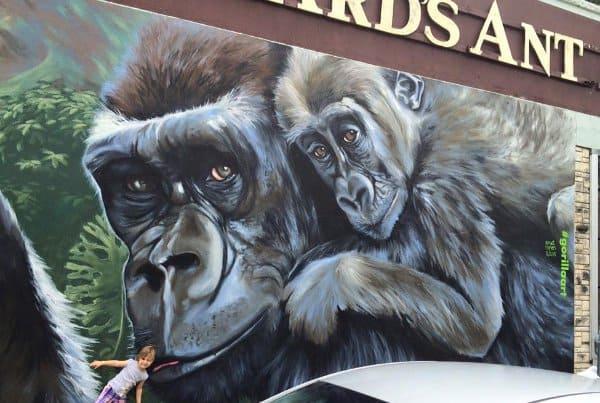 Gorilla Art Mural Richard's Antiques 3701 Main St Artist Anat Ronen 1