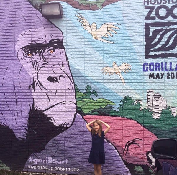 Gorilla Art Mural at Jennis Noodle House 602 East 20th St Michael C Rodriguez 2