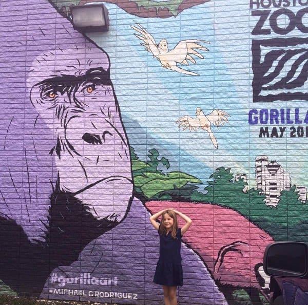 Gorilla Art Mural at Jennis Noodle House 602 East 20th St Michael C Rodriguez 2