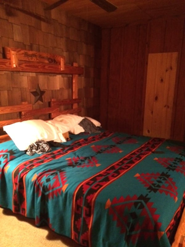Inside Cabin at Mayan Dude Ranch in Bandera