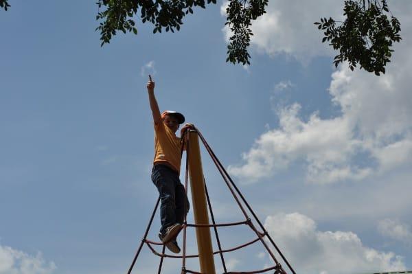 Joe Touching the Sky at Poe Spark Park