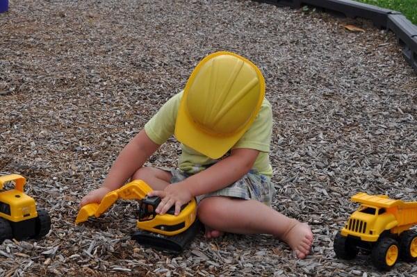 Playing Trucks at Menard Park Galveston