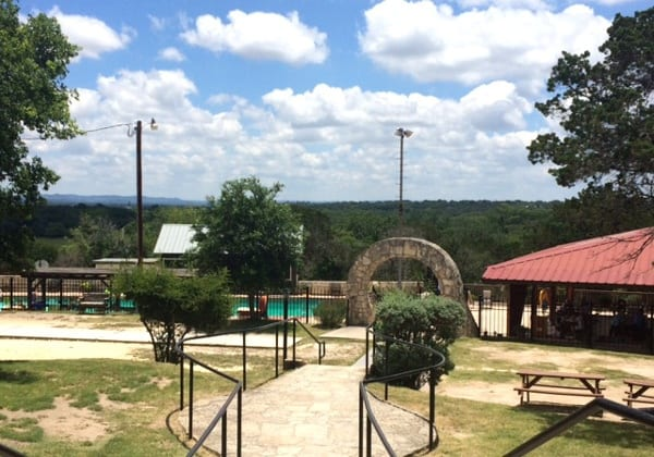 Pool at Mayan Dude Ranch in Bandera